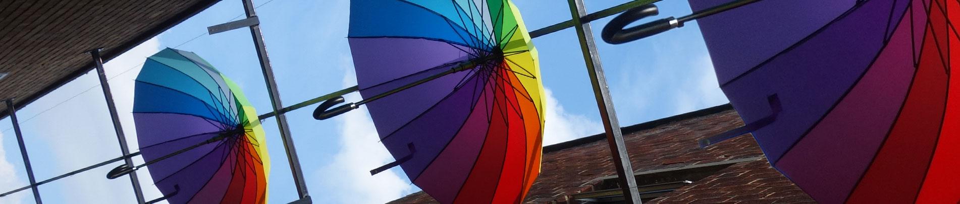 Umbrella Alley Art Installation